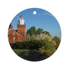 Big Bay Point Lighthouse Round Ornament