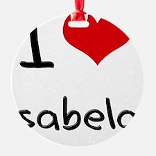 I Love Isabela Ornament