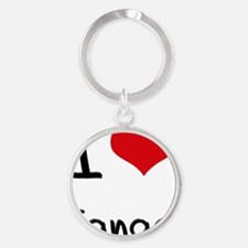 I Love Janae Round Keychain