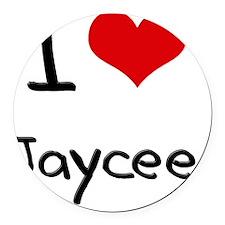 I Love Jaycee Round Car Magnet