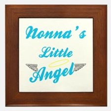 Nonna's Angel (Boy) Framed Ceramic Tile
