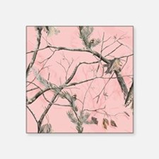"Realtree Pink Camo Square Sticker 3"" x 3"""