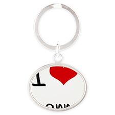 I Love Joanna Oval Keychain