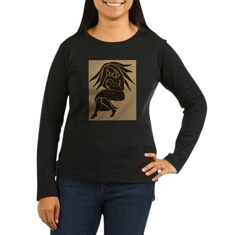 babylove Women's Long Sleeve Dark T-Shirt