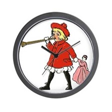 Girl with horn Wall Clock