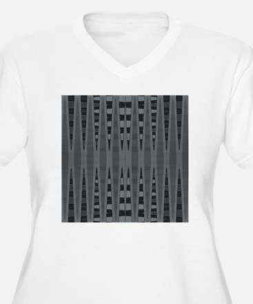 Grey Black Modern T-Shirt