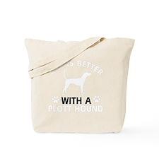 Plott Hound dog breed designs Tote Bag