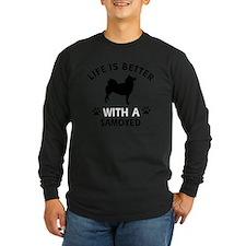 Samoyed dog breed designs T