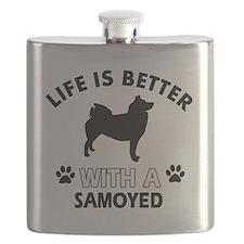 Samoyed dog breed designs Flask