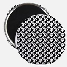 Dog Paws Black-Small Magnet