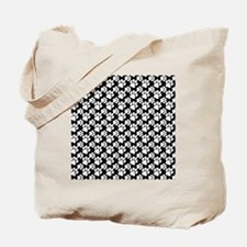 Dog Paws Black-Small Tote Bag