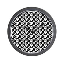 Dog Paws Black-Small Wall Clock
