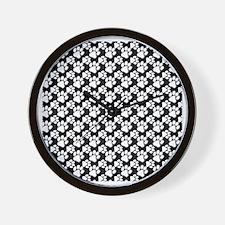 Dog Paws Black-Small Wall Clock