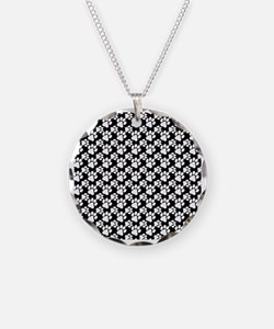 Dog Paws Black-Small Necklace