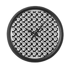 Dog Paws Black-Small Large Wall Clock