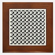 Dog Paws Black-Small Framed Tile