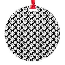 Dog Paws Black-Small Ornament