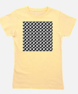 Dog Paws Black-Small Girl's Tee