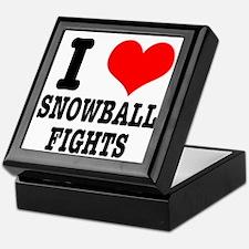 I Heart (Love) Snowball Fights Keepsake Box