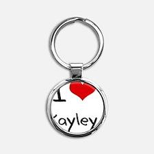 I Love Kayley Round Keychain