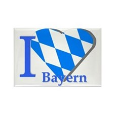 I love Bayern Rectangle Magnet