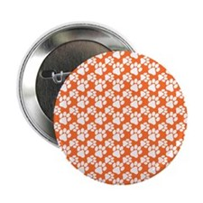 "Dog Paws Clemson Orange-Small 2.25"" Button"