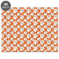 Dog Paws Clemson Orange-Small Puzzle