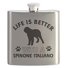 Spinone Italiano dog designs Flask