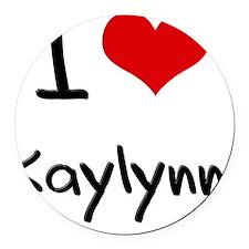 I Love Kaylynn Round Car Magnet