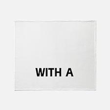 Staffy dog designs Throw Blanket