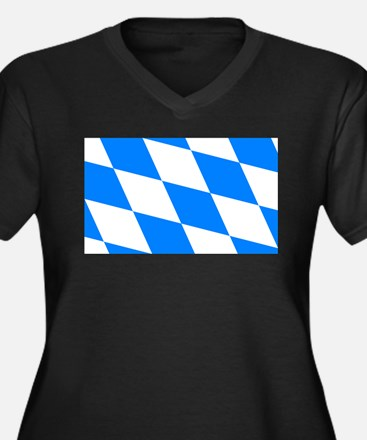 Bavarian flag (oktoberfest ) Women's Plus Size V-N