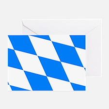 Bavarian flag (oktoberfest ) Greeting Cards (Packa
