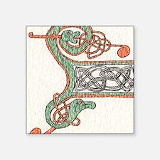 "Celtic Artwork Detail Square Sticker 3"" x 3"""