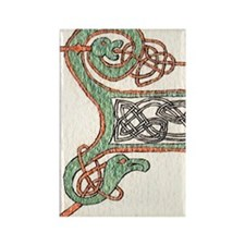Celtic Artwork Detail Rectangle Magnet