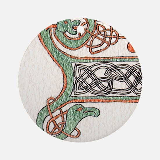 Celtic Artwork Detail Round Ornament