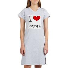 I Love Lauren Women's Nightshirt