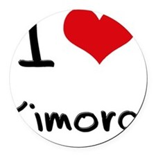 I Love Kimora Round Car Magnet