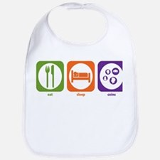 Eat Sleep Coins Bib