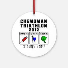 Chemoman Triathlon 2012 Round Ornament