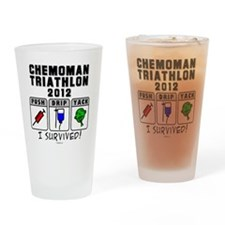 Chemoman Triathlon 2012 Drinking Glass