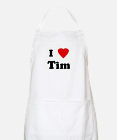 I Love Tim BBQ Apron