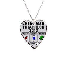 Chemoman Triathlon 2013 Necklace Heart Charm