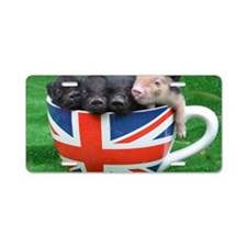 Tea Cup Piggies Aluminum License Plate