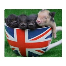 Tea Cup Piggies Throw Blanket