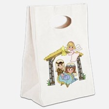 Childrens Nativity Canvas Lunch Tote