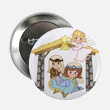 """Childrens Nativity 2.25"""" Button"""