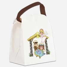 Childrens Nativity Canvas Lunch Bag