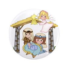 """Childrens Nativity 3.5"""" Button"""