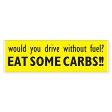 """Eat Carbs"" Bumper Bumper Sticker"