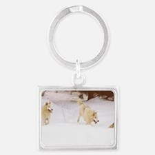 """""""Three  Important  Wolves  Of   Landscape Keychain"""